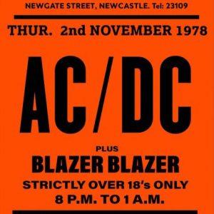 rare acdc gig poster