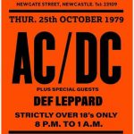 rare acdc concert poster