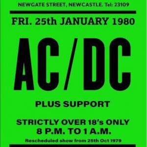 rare ac/dc concert poster
