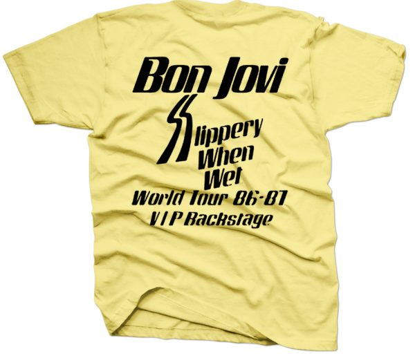 rare bon jovi slippery when wet t shirt