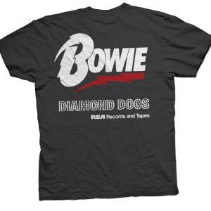 rare bowie tour tee shirts