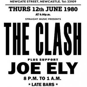 rare clash concert poster