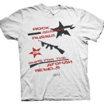 rare clash rock against russia t shirt
