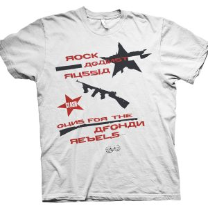 rare clash rock against russia t shirt
