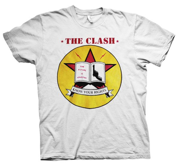 the clash know your rights t shirt