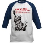 clash baseball shirt 1979 us tour t shirt
