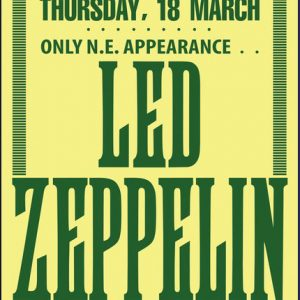 rare led zeppelin concert posters