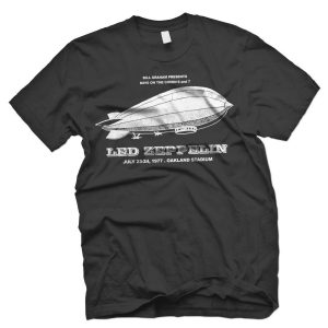 led zeppelin US tour t shirt