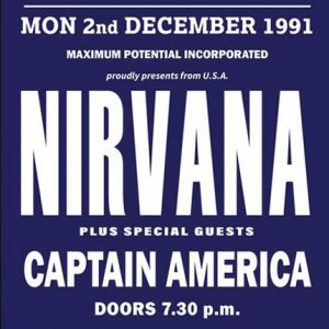 rare nirvana concert poster