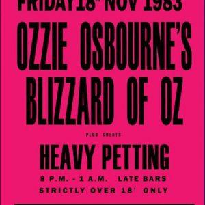 rare ozzy osbourne concert poster