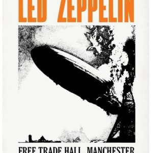 rare led zeppelin concert poster